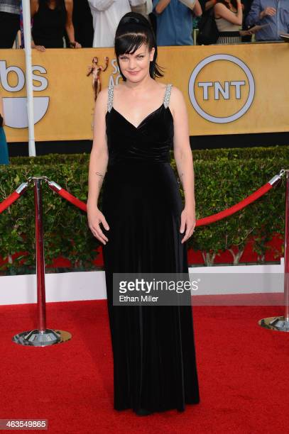 Actress Pauley Perrette attends the 20th Annual Screen Actors Guild Awards at The Shrine Auditorium on January 18 2014 in Los Angeles California