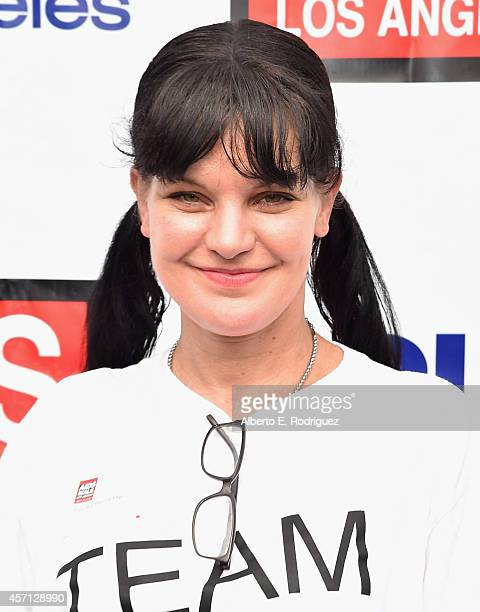 Actress Pauley Perrette attends the 30th Annual AIDS Walk Los Angeles on October 12 2014 in West Hollywood California