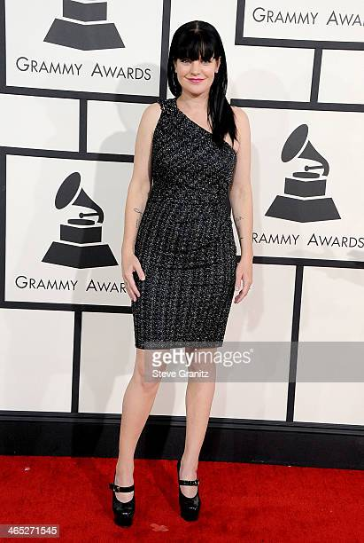 Actress Pauley Perrette attends the 56th GRAMMY Awards at Staples Center on January 26 2014 in Los Angeles California