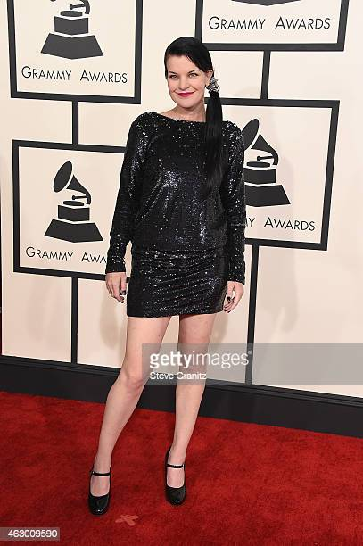 Actress Pauley Perrette attends The 57th Annual GRAMMY Awards at the STAPLES Center on February 8 2015 in Los Angeles California