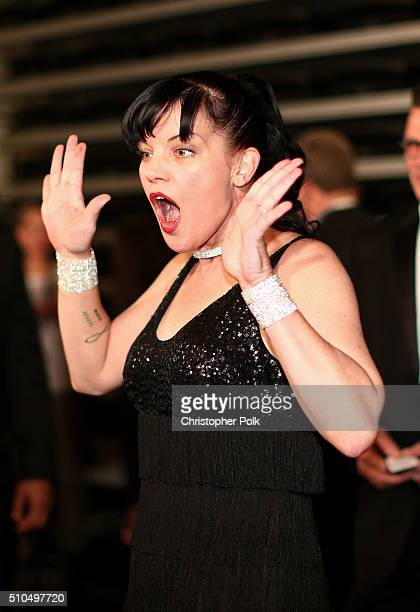 Actress Pauley Perrette attends The 58th GRAMMY Awards at Staples Center on February 15 2016 in Los Angeles California