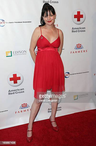Actress Pauley Perrette attends the 7th Annual American Red Cross Red Tie Affair at the Fairmont Miramar Hotel on April 6 2013 in Santa Monica...