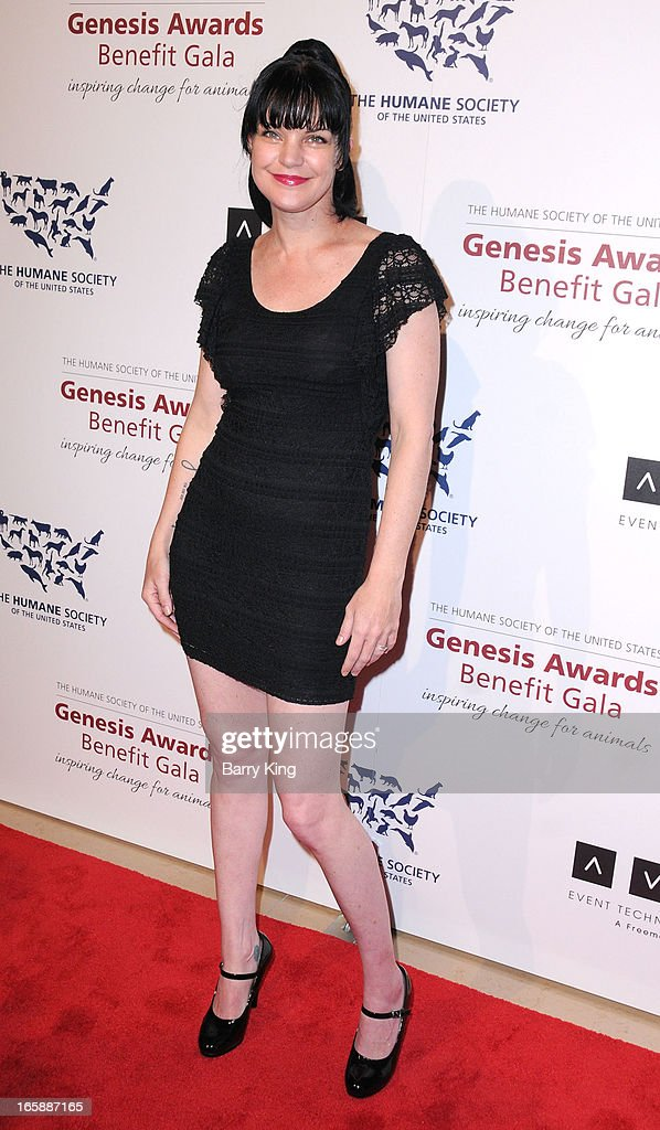 Actress Pauley Perrette attends The Humane Society's 2013 Genesis Awards benefit gala at the Beverly Hilton Hotel on March 23, 2013 in Beverly Hills, California.