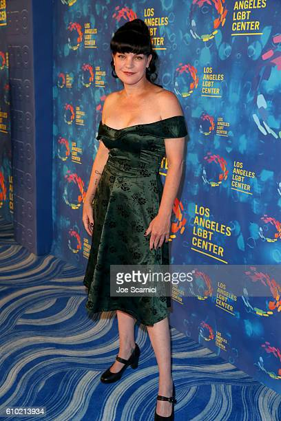 Actress Pauley Perrette attends the Los Angeles LGBT Center 47th Anniversary Gala Vanguard Awards at Pacific Design Center on September 24 2016 in...