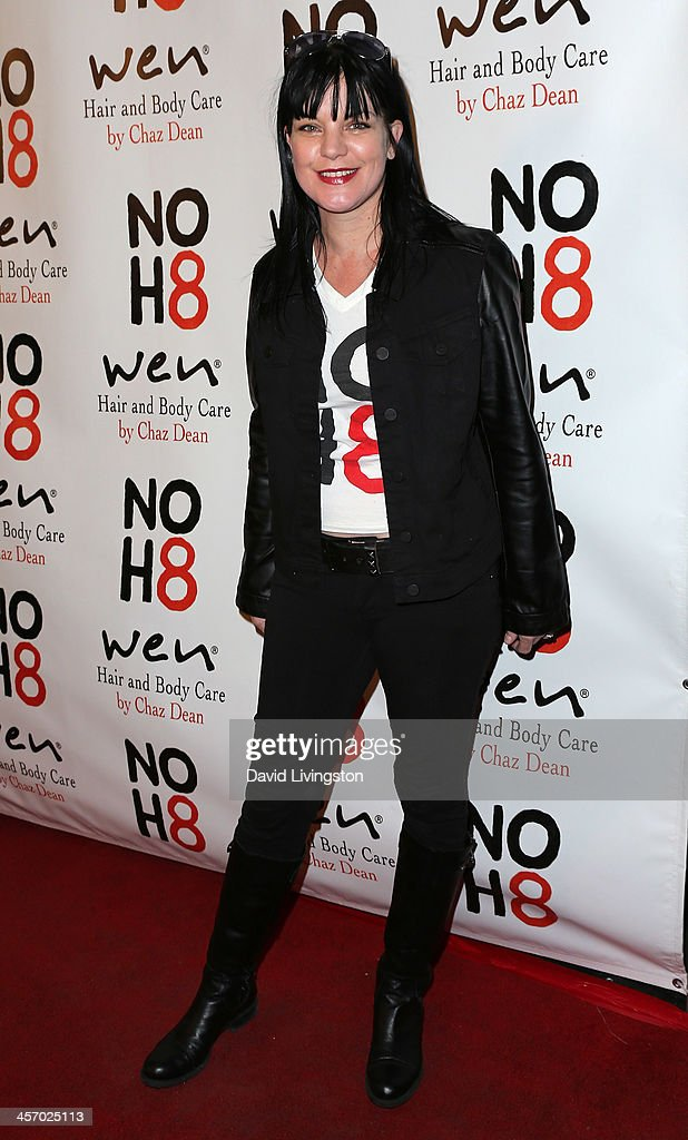 Actress Pauley Perrette attends the NOH8 Campaign 5th Anniversary Celebration at Avalon on December 15, 2013 in Hollywood, California.