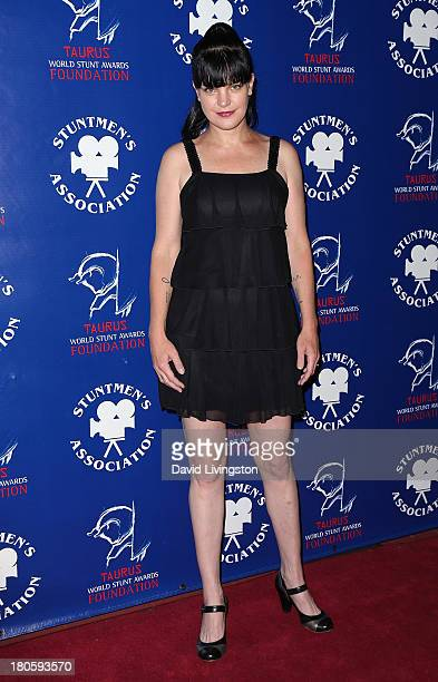 Actress Pauley Perrette attends the Stuntmen's Association of Motion Pictures 52nd Annual Awards Dinner to benefit the Taurus World Stunt Awards...