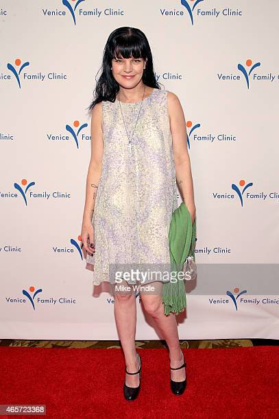 Actress Pauley Perrette attends the Venice Family Clinic's Silver Circle Gala at Regent Beverly Wilshire Hotel on March 9 2015 in Beverly Hills...