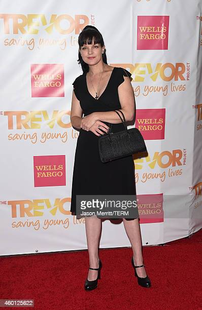 Actress Pauley Perrette attends TrevorLIVE LA Honoring Robert Greenblatt Yahoo and Skylar Kergil for The Trevor Project at Hollywood Palladium on...