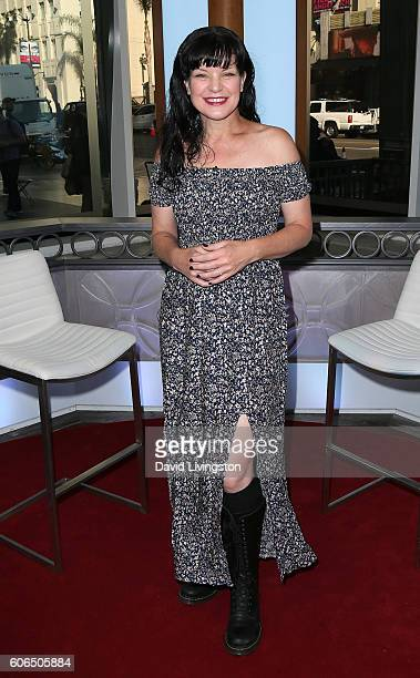Actress Pauley Perrette visits Hollywood Today Live at W Hollywood on September 16 2016 in Hollywood California