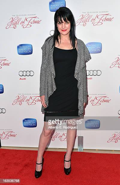 Actress Paulie Perrette attends the Academy of Television Arts Sciences' 22nd Annual Hall of Fame Induction Gala at The Beverly Hilton Hotel on March...