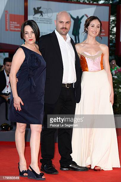 Actress Paulina García director Moises Sepulveda and actress Valentina Muhr attends the 'Jealousy' Premiere during the 70th Venice International Film...