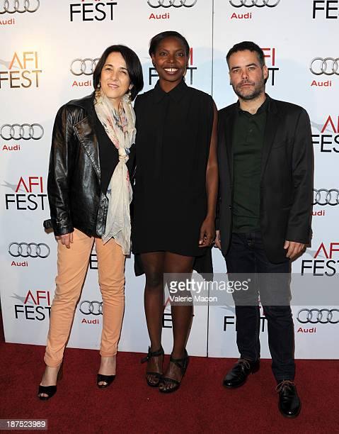 Actress Paulina Garcia AFI Fest Director Jacqueline Lyanga and director Sebastian Lelio attend the photo call for 'Gabrielle' 'Gloria' 'Bethlehem'...