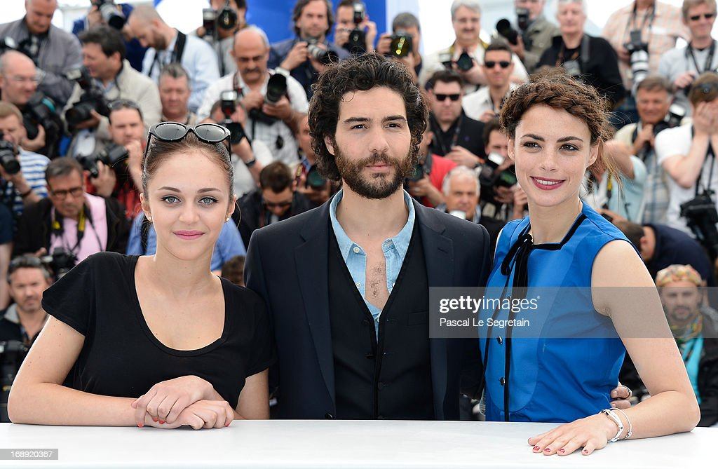 Actress Pauline Burlet, actor Tahar Rahim and actress Berenice Bejo attends 'Le Passe' photocall during the 66th Annual Cannes Film Festival at the Palais des Festivals on May 17, 2013 in Cannes, France.