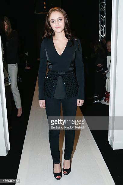 Actress Pauline Burlet attends the Maxime Simoens show as part of the Paris Fashion Week Womenswear Fall/Winter 20142015 Held at Lycee Jean Zay on...