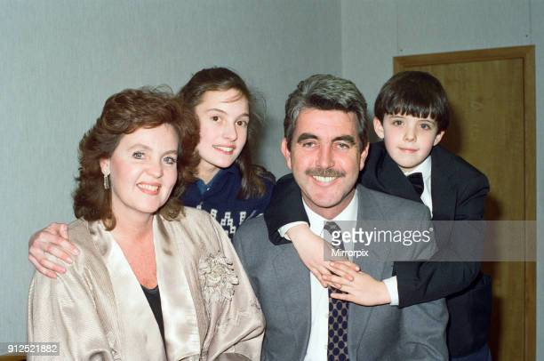 Actress Pauline Collins and husband John Alderton with two of their children Richard and Kate1st February 1989