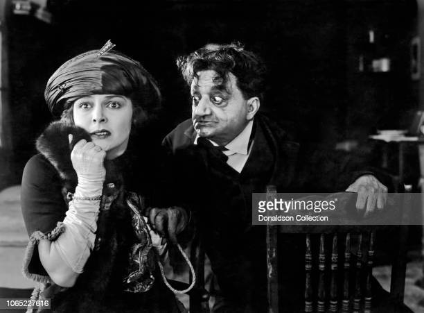 Actress Pauline Frederick and Cesare Gravina in a scene from the movie 'A Slave of Vanity'