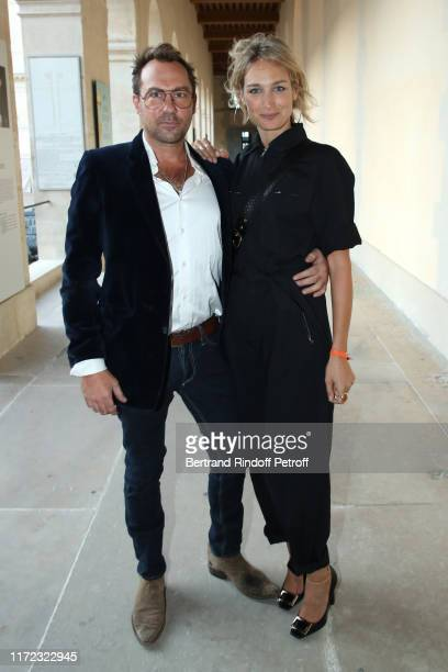 Actress Pauline Lefevre and her husband Julien Ansault attend the Tosca Opera en Plein Air performance at Les Invalides on September 04 2019 in Paris...
