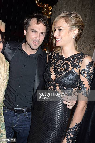 Actress Pauline Lefevre and husband director Julien Ansault attend 'Heritage Paris' Club Opening Party on October 29 2015 in Paris France