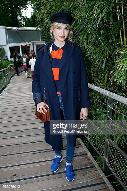 Actress Pauline Lefevre attends Day Twelve of the 2016 French Tennis Open at Roland Garros on June 2 2016 in Paris France