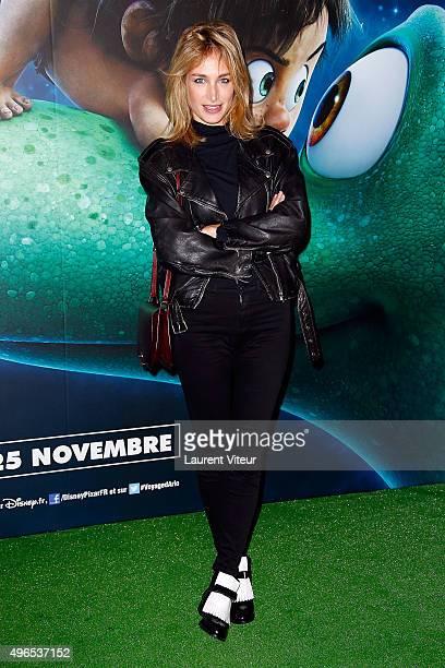Actress Pauline Lefevre attends 'Le Voyage d'Arlo The Good Dinosaur' Paris Premiere at Le Grand Rex on November 10 2015 in Paris France