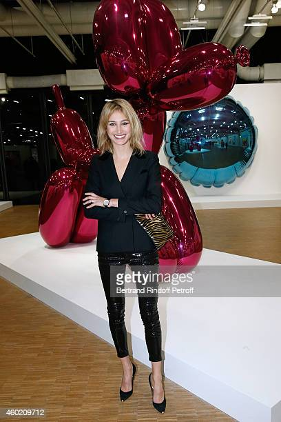 Actress Pauline Lefevre attends the Handbag Jeff Koons Presentation during the 'Fashion Loves Art' Cocktail Event hosted by HM on December 9 2014 in...