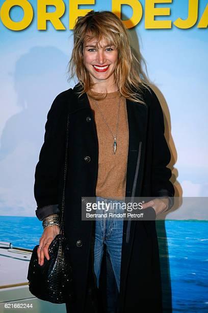 Actress Pauline Lefevre attends the 'Ma famille t'adore deja' Paris Premiere at Cinema Elysee Biarritz on November 7 2016 in Paris France Pauline...