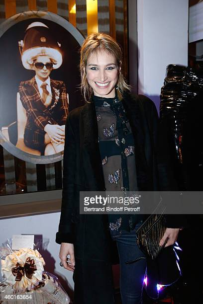 Actress Pauline Lefevre attends the Sarah Guetta Party in Paris for the first anniversary of the Hairdressing salon Sarah Guetta on December 8 2014...