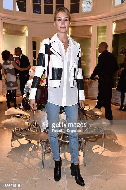 Actress Pauline Lefevre attends the 'Vendanges Montaigne 2015' at Dior at Avenue Montaigne on September 10 2015 in Paris France