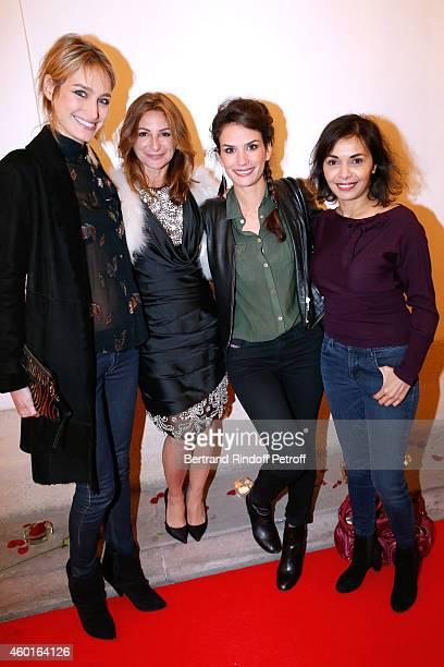 Actress Pauline Lefevre Sarah Guetta actress Barbara Cabrita and actress Saida Jawad attend the Sarah Guetta Party in Paris for the first anniversary...