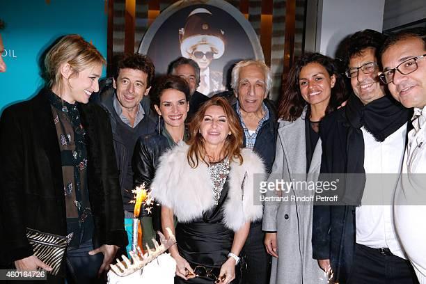 Actress Pauline Lefevre Singer Patrick Bruel Barbara Cabrita Guest Sarah Guetta Actor Gerard Darmon and TV host Laurence Roustandjee attend the Sarah...