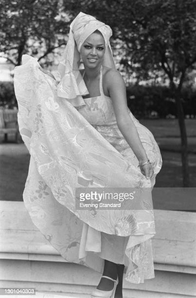 Actress Pauline Peart, UK, 4th June 1973. She starred in the films 'Carry on Girls' and 'The Satanic Rites of Dracula' that year.