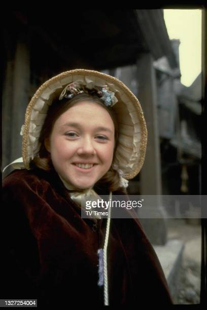 Actress Pauline Quirke in character as Charlotte in period adventure series The Further Adventures Of Oliver Twist, circa 1980.