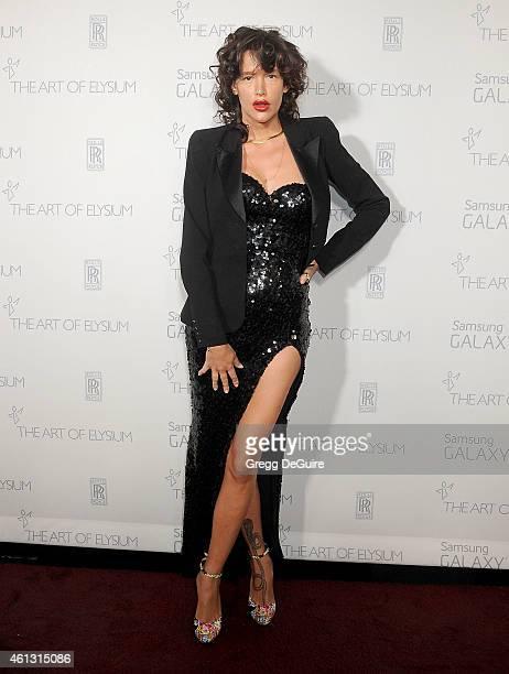 Actress Paz de la Huerta arrives at The Art Of Elysium's 8th Annual Heaven Gala at Hangar 8 on January 10 2015 in Santa Monica California
