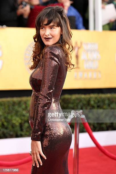 Actress Paz De La Huerta arrives at the TNT/TBS broadcast of the 17th Annual Screen Actors Guild Awards held at The Shrine Auditorium on January 30...
