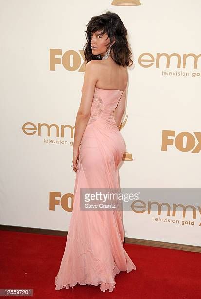 Actress Paz de la Huerta arrives to the 63rd Primetime Emmy Awards at the Nokia Theatre LA Live on September 18 2011 in Los Angeles United States