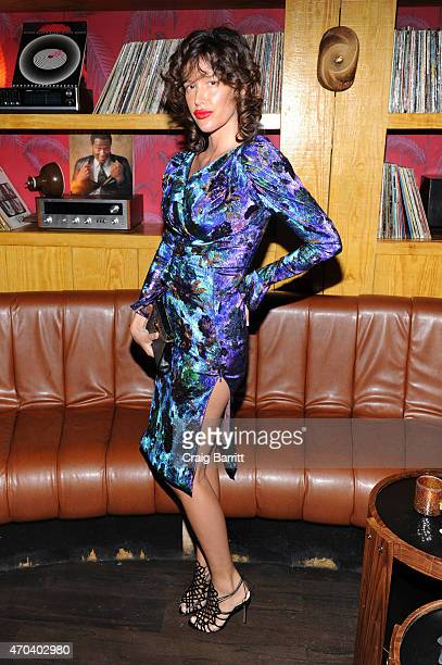Actress Paz de la Huerta attends the 2015 Tribeca Film Festival After Party for 'Bare' sponsored by LDV Hospitality at No8 on April 19 2015 in New...