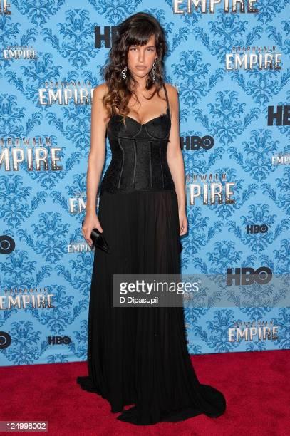 Actress Paz de la Huerta attends the 'Boardwalk Empire' Season 2 premiere at the Ziegfeld Theater on September 14 2011 in New York City