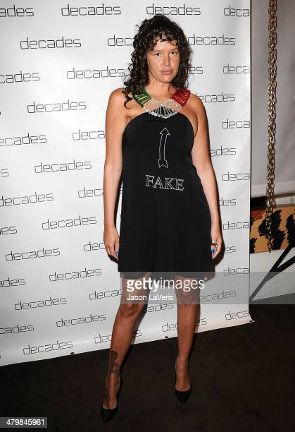 Actress Paz de la Huerta attends the Decades Les Must De Moschino event at Decades on March 20 2014 in Los Angeles California