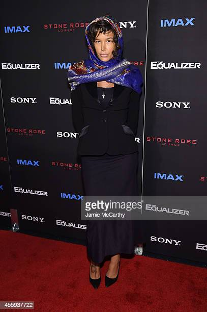Actress Paz de la Huerta attends the 'The Equalizer' New York premiere at AMC Lincoln Square Theater on September 22 2014 in New York City
