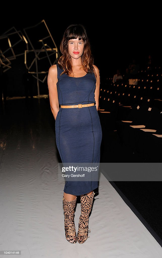 Actress Paz de la Huerta attends the Z Spoke by Zac Posen Spring 2011 fashion show during Mercedes-Benz Fashion Week at The Theater at Lincoln Center on September 11, 2010 in New York City.