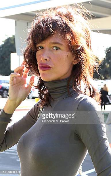 Actress Paz de la Huerta makes an appearance at the Santa Monica Courthouse on February 23 2016 in Santa Monica California De la Huerta is suing...