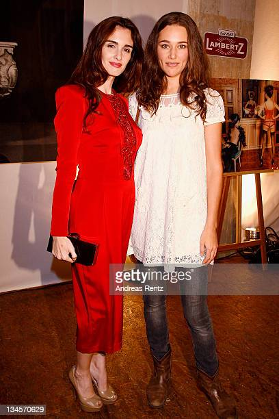 Actress Paz Vega and actress Alissa Jung attend the '2012 Lambertz calender' launch at Soho House on December 2 2011 in Berlin Germany