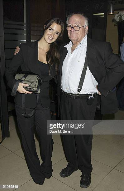 Actress Paz Vega and director Vicente Aranda attend the UK Gala Film Premiere of Carmen at the Curzon Mayfair on September 5 2004 in London