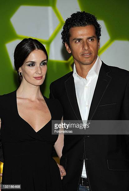 Actress Paz Vega and her husband Orson Salazar arrive to the opening of the Dr Javier Anido Esthetic Clinic on October 28 2009 in Madrid Spain
