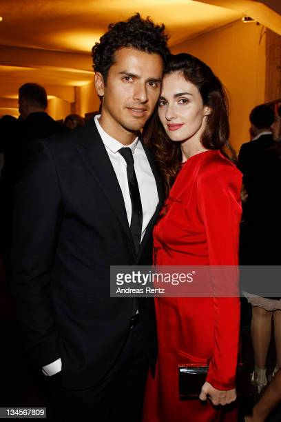 Actress Paz Vega and husband Orson Salazar attend the '2012 Lambertz calender' launch at Soho House on December 2 2011 in Berlin Germany