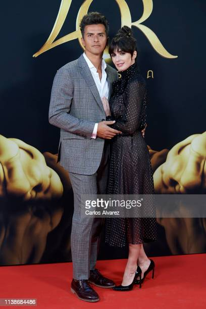 Actress Paz Vega and husband Orson Salazar present L'OR Barista coffee espresso system at San Fernando Museum on March 27 2019 in Madrid Spain
