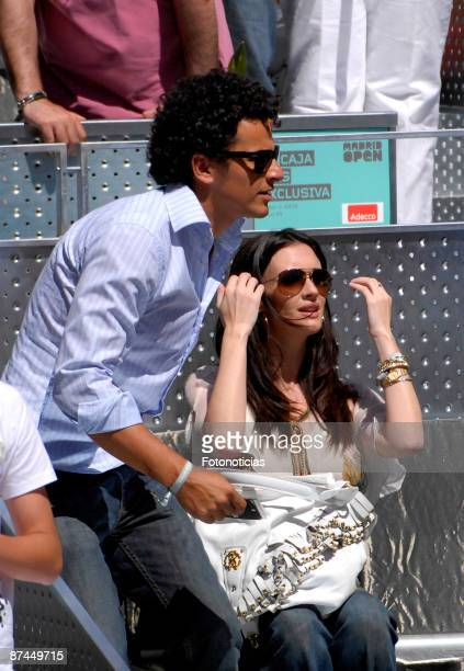 Actress Paz Vega and Orson Salazar attend Madrid Open tennis tournament final at La Caja Magica on May 17 2009 in Madrid Spain
