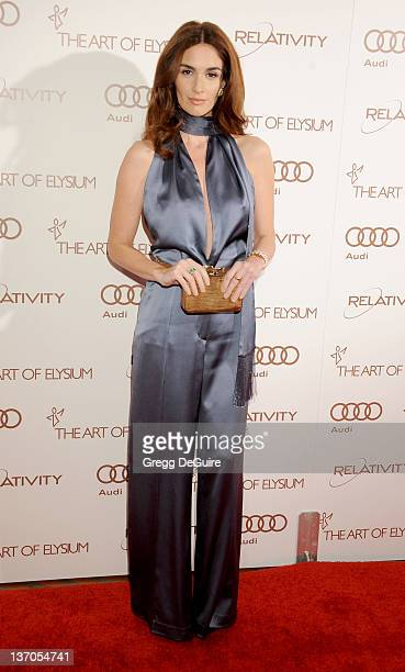 Actress Paz Vega arrives at Art Of Elysium's 5th Annual Heaven Gala at Union Station on January 14 2012 in Los Angeles California
