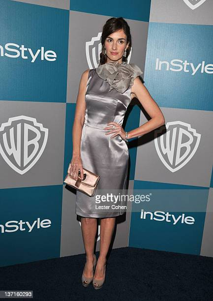 Actress Paz Vega arrives at the 13th Annual Warner Bros. And InStyle Golden Globe After Party held at The Beverly Hilton hotel on January 15, 2012 in...