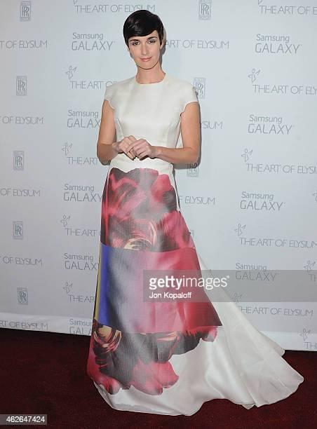 Actress Paz Vega arrives at The Art Of Elysium 8th Annual Heaven Gala at Hangar 8 on January 10 2015 in Santa Monica California